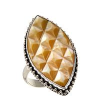 Bali Designs Mother-of-Pearl Marquise-Shaped Ring