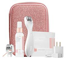 BeautyBio White GloPRO Tool with Extra Face Roller and Organizer Case