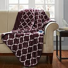 Beautyrest Heated Knitted Microlight Oversized Throw
