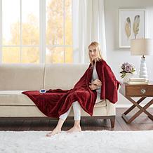 Beautyrest Heated Plush Knitted Microlight Oversized Throw