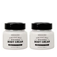 Beekman 1802 Goat Milk Whipped Body Cream Duo