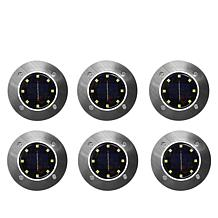 Bell + Howell Disk Lights Deluxe Solar Lights 6-pack