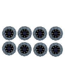 Bell + Howell Disk Lights Solar Ultra Stone 8-pack