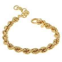 Bellezza Bronze Chunky Rope Bracelet