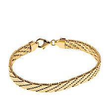 Bellezza Bronze Diamond-Cut Riccio Bracelet