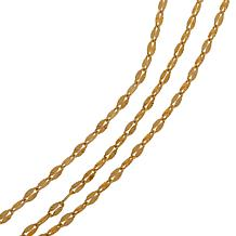 Bellezza Bronze Diamond-Cut Starburst Chain Necklace 3pc Set