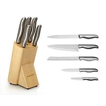 BergHOFF Essentials 6-piece Stainless Steel Knife Set with Block