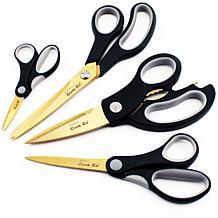 BergHOFF Studio Gold Series 4-piece Titanium Scissors Set