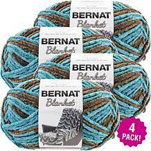 Bernat Blanket Big Ball Yarn 4-pack - Mallard Wood
