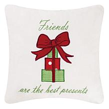 Best Presents Embroidered Pillow