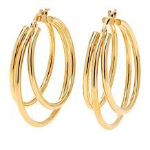 Bianca Milano Sterling Silver Triple Hoop Earrings