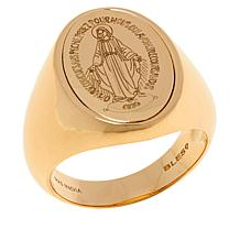 BlesT Gold-Plated Sterling Silver Virgin Mary Signet Ring