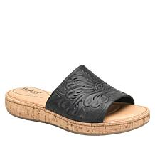 Born® Fishlake Embossed Leather Slide Sandal