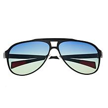 Breed Apollo Polarized Sunglasses - Black Frames and Blue Lenses