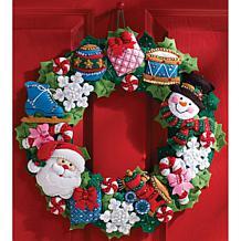 Wreath Felt Applique Kit