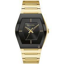 Bulova Futuro Goldtone Stainless Steel Men's Bracelet Watch