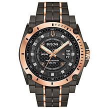 Bulova Men's Grey IP Precisionist Diamond Dial Watch