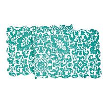 C&F Home Madison Aqua Quilted Runner