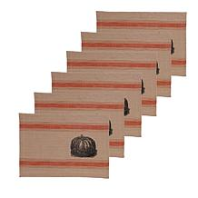 C&F Home Pumpkin Feed Sack Pmat Set 6