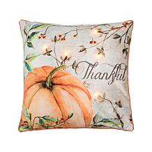 C&F Home Thankful Pumpkin LED Pillow