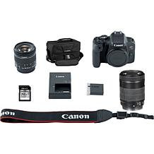 Canon EOS Rebel T7i Camera Bundle w/18-55 & 55-250 IS STM Lenses