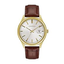 Caravelle  Men's Coin-Edge Brown Watch