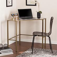 Chace Metal Glass Corner Desk