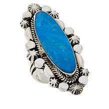 Chaco Canyon Sterling Silver Oval Turquoise Ring