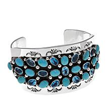 Chaco Canyon Turquoise & Blue Topaz Cluster Cuff