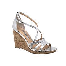 Charles David Randee Leather Wedge Sandal