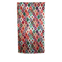 Clever Carriage Cannes Patchwork Ikat Print Silk Scarf