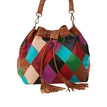 Clever Carriage Cannes Patchwork Leather Bucket Bag