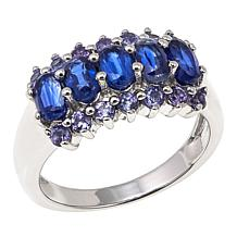 Colleen Lopez 1.98ctw Kyanite and Tanzanite Sterling Silver Ring
