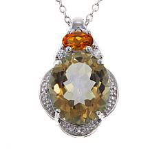 "Colleen Lopez Mystic Quartz & Gem Pendant with 18"" Chain"