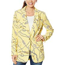 Colleen Lopez Nautical-Print Blazer