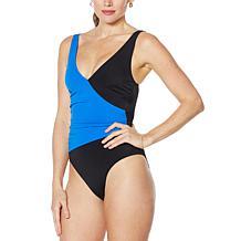 Colleen Lopez One Piece Colorblock Slim-Suit