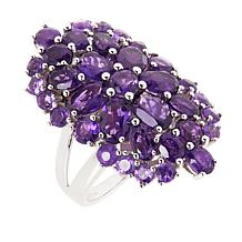 Colleen Lopez Sterling Silver Gemstone Cluster Ring