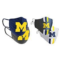 Colosseum Collegiate NCAA Team Logo Face Covering 4-Pk - Michigan