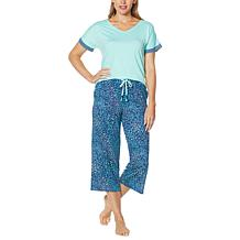 Comfort Code Soft and Light Short-Sleeve Tee and Crop Pant PJ Set