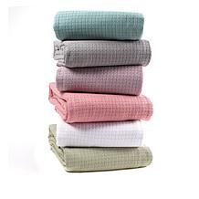 Concierge Collection 100% Cotton Waffle Weave Blanket
