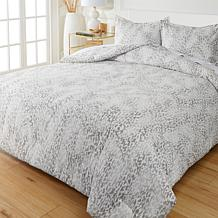 Concierge Collection Wrinkle Release Printed 3-piece Comforter Set