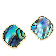 Connie Craig Carroll Jewelry Morgan Abalone Button Stud Earrings