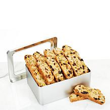 Cookies Con Amore 2 lb Cherry Pistachio Biscotti Loaf in Tin