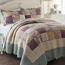 Cottage  100% Cotton Patchwork 3-piece Quilt Set