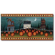 "Courtside Market Halloween Eve Crescent Moon 12""x24"" Canvas Wall Art"
