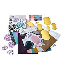 Craft Factory Rolled Flowers and 3D Nesting Frame Kit with Faux Pearls