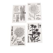 Crafter's Companion Aquatint Stamps 4-pack - Secret Garden
