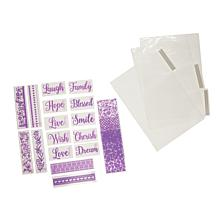 Crafter's Companion Everyday Sentiments Mini Embossing Folders Set