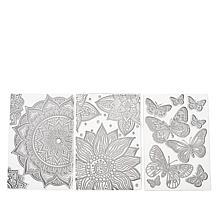 Crafter's Companion Resist Stamps - Butterflies, Mandalas & Florals