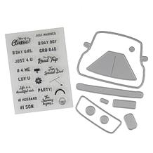 Crafter's Companion Stamp and Die Set for Him - Car
